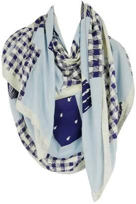 Issey Miyake Vintage Blue Cotton Scarves