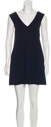 Diane von Furstenberg V-Neck Mini Sheath Dress