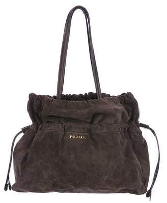 Prada Suede Drawstring Bag