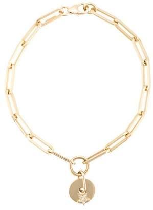 Foundrae 18kt yellow gold diamond star charm bracelet