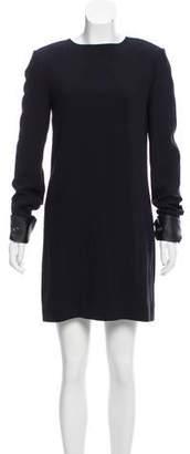 Helmut Lang Leather Cuffed Mini Dress