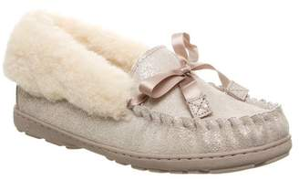 BearPaw Indio Suede Genuine Sheepskin Footbed Moccasin