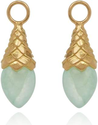 Annoushka Yellow Gold and Jade Earring Drops