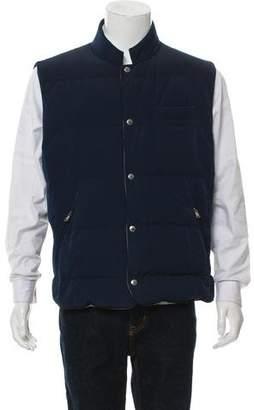 Brunello Cucinelli Reversible Virgin Wool-Blend Vest