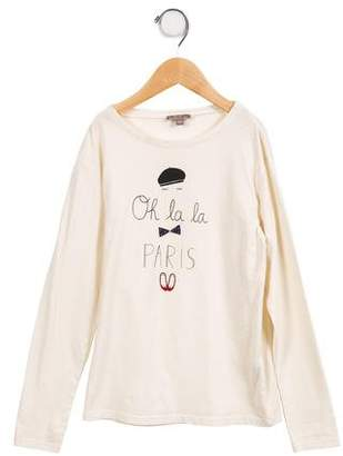 Emile et Ida Girls' Long Sleeve Graphic Top