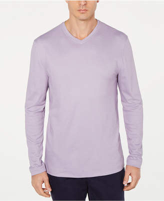 Tasso Elba Men Supima Blend Knit V-Neck Long-Sleeve T-Shirt