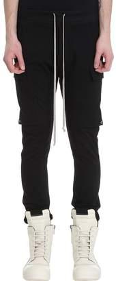 Rick Owens Black Cotton Pants
