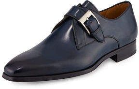 Magnanni Buckle-Strap Leather Loafer