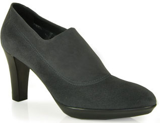 Aquatalia by Marvin K Rosette - Stretch Suede Shoes in Anthracite