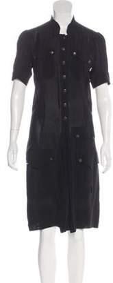 Balenciaga Short Sleeve Midi Dress Black Short Sleeve Midi Dress