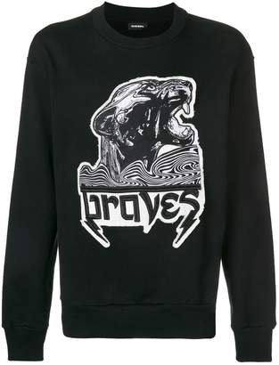 Diesel Braves embroidered sweatshirt