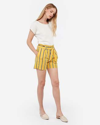 Express Mid Rise Paperbag Dress Shorts