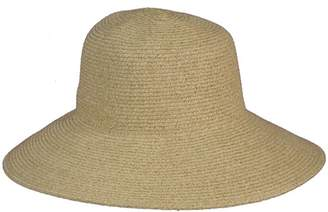 Jendi Adjustable Woven Wide Brim Hat Toast
