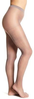 Capelli of New York Patterned Metallic Stitch Tights