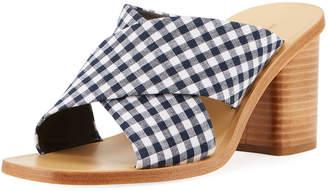 Rag & Bone Paige Gingham Slide Sandals