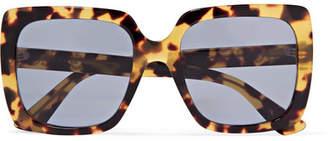 Gucci Oversized Crystal-embellished Square-frame Tortoiseshell Acetate Sunglasses