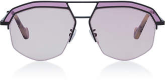 b66a34ced8 Loewe Sunglasses Oversized Octagonal Metal Sunglasses