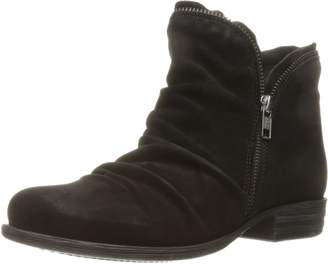 Miz Mooz Women's Luna Leather Ankle Boot with Zipper Accent