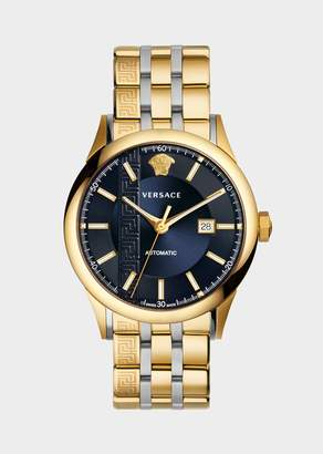 Versace Gold Toned Aiakos Automatic Watch