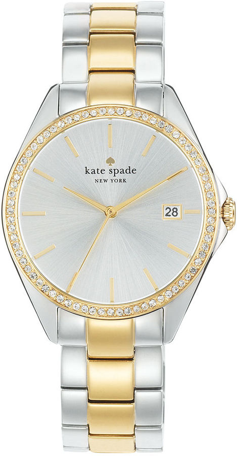 kate spade new york Watch, Women's Seaport Grand Two-Tone Stainless Steel Bracelet 38mm 1RU0175