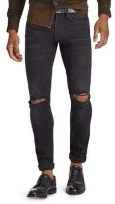Polo Ralph Lauren Stretch Distressed Skinny-Fit Jeans