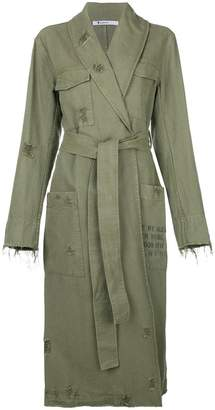 Alexander Wang distressed belted trench coat