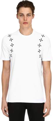 Neil Barrett Stars Printed Cotton Jersey T-Shirt
