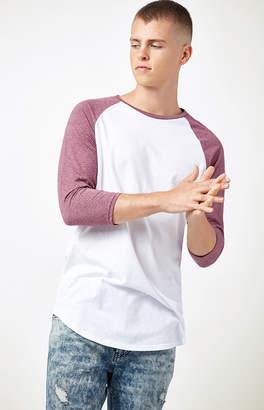 Trunks Pacsun Cosmas Raglan 3/4 Sleeve Scallop T-Shirt