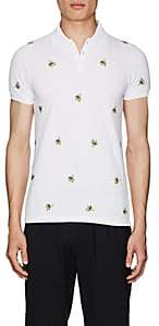 DSQUARED2 Men's Banana-Embroidered Cotton Polo Shirt - White Size M