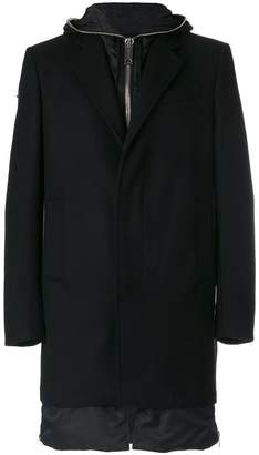 Les Hommes classic fitted coat