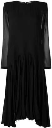 Givenchy long-sleeve flared midi dress