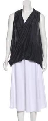 Calypso Silk-Blend Sleeveless Top