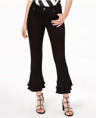 INC International Concepts I.n.c. Petite Ruffle-Hem Jeans, Created for Macy's