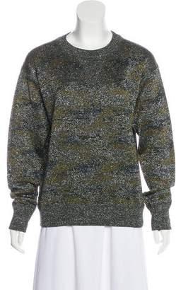 Isabel Marant Metallic Scoop Neck Sweatshirt