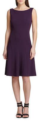 DKNY Seamed Fit--Flare Dress