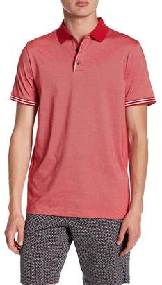 Perry Ellis Striped Cuff Polo Shirt