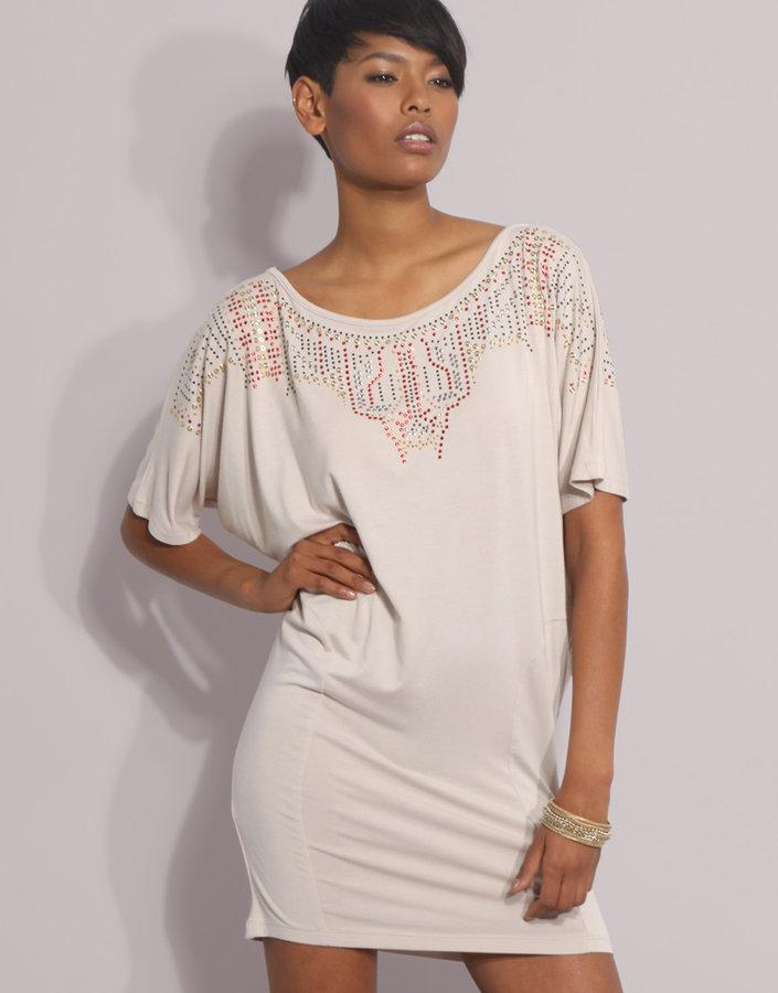 ASOS Aztec Studded Oversized T-Shirt Dress