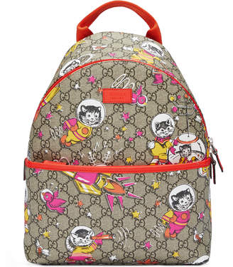 Children's GG space cats backpack $860 thestylecure.com