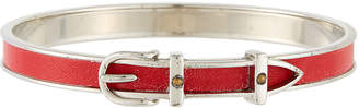 Hermes Estate Leather Belt Bangle, Red/Silver