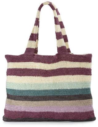 Mara Hoffman Striped Crochet Beach Tote Bag $215 thestylecure.com
