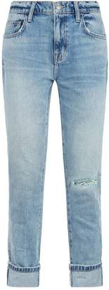 Current/Elliott Current Elliott The Fling Distressed Cropped Jeans