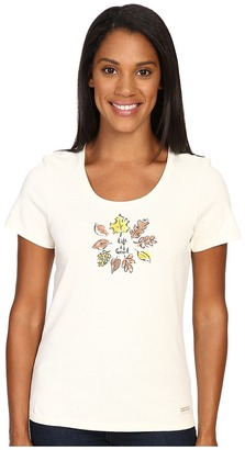 Life is good Circle Leaves Crusher Scoop Tee $26 thestylecure.com