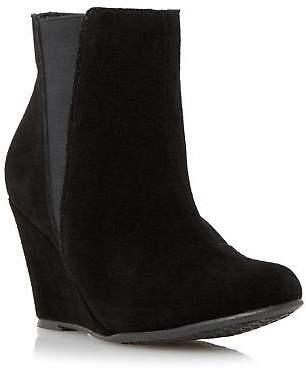 Black Wedge Heel Boots For Women Shopstyle Uk
