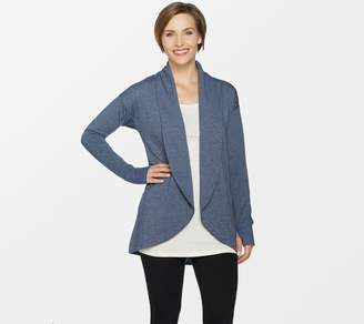 Cuddl Duds Comfortwear French Terry Shawl Collar Cardi Wrap