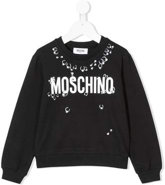 4e9db45c3 Moschino Kids piercing logo print sweatshirt
