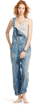 Ralph Lauren Denim & Supply The D&S Banner Overall $265 thestylecure.com