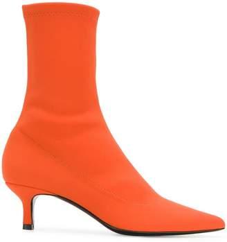 Aldo Castagna kitten heel sock boots