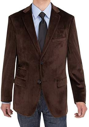 Exte SE SALVATORE Men's 2 Button Velvet Blazer
