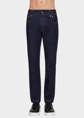 Versace Versus Lion Rivet Denim Jeans