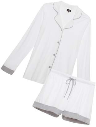 Cosabella Bella Bridal Long Sleeve Top Boxer Pajama Set